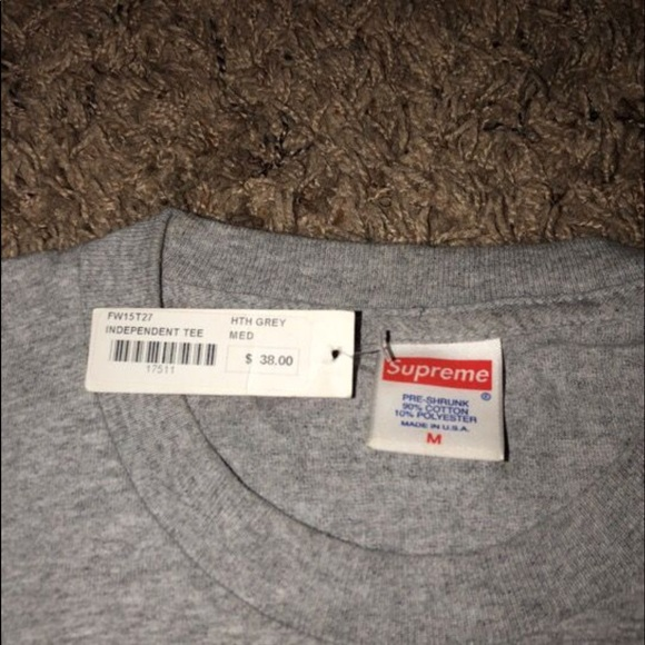 supreme shirt tag